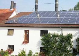 Photovoltaik Anlage mit einer Leistung von 11,55 kWp (Bild 1: Außenaufnahme)